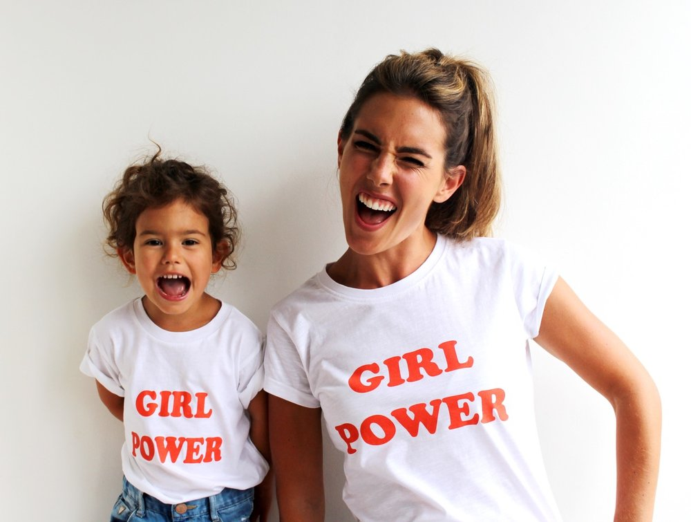 Girl Power : £5 from Kids and £10 from our Adult Girl Power range goes to Worldreader Picture : Coral and her daughter Ava by @coral_pearl_