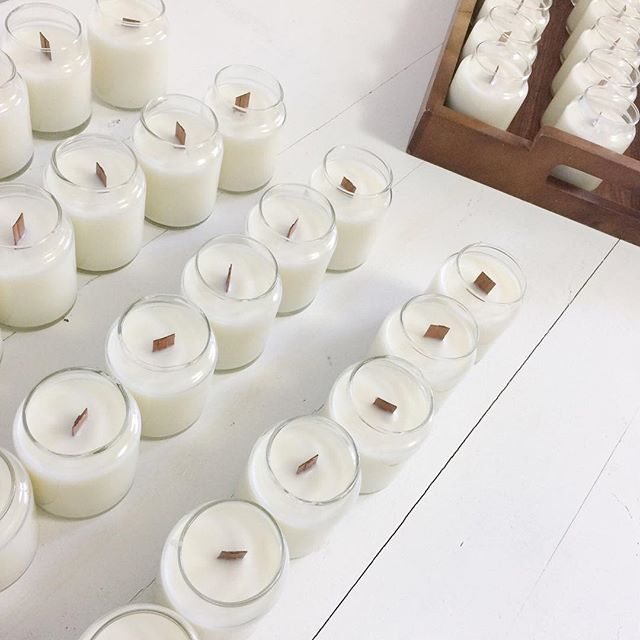 Preparing for @markitfedsquare happening on 22nd April. The studio got a bit of live with a new lick of paint and it feels so fresh! #woodwickcandles #candles #handmade #wip