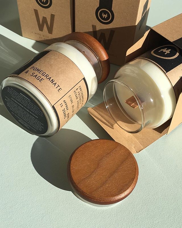 Classic wood wick candles by Aacute. It's been improved with a new and stronger wick for more crackle and smell. Even the wooden lid smells and feels good. Mmmm... ♨︎ #aacutecandles #woodwickcandles #soycandles #melbournemade