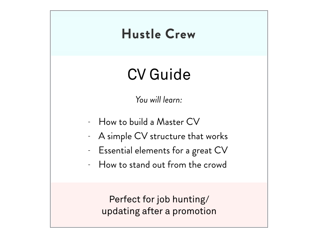 Hustle Crew CV Guide — Hustle Crew