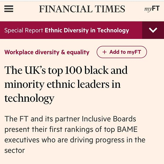 "We are so proud of Hustle Crew founder @abadesi, who  is on the FT list of the UK's top 100 black and minority ethnic leaders in tech. ⠀⠀⠀⠀⠀⠀⠀⠀⠀⠀⠀⠀ ""The tech sector has long suffered from a lack of diversity, including a low rate of ethnic minorities that hold leadership positions. This list highlights those making a positive change."" ⠀⠀⠀⠀⠀⠀⠀⠀⠀⠀⠀⠀ #diversityintech #diversityandinclusion #diversitymatters #representationmatters #diversityintheworkplace  #blackfounders #blackentrepreneur #Abadesi"