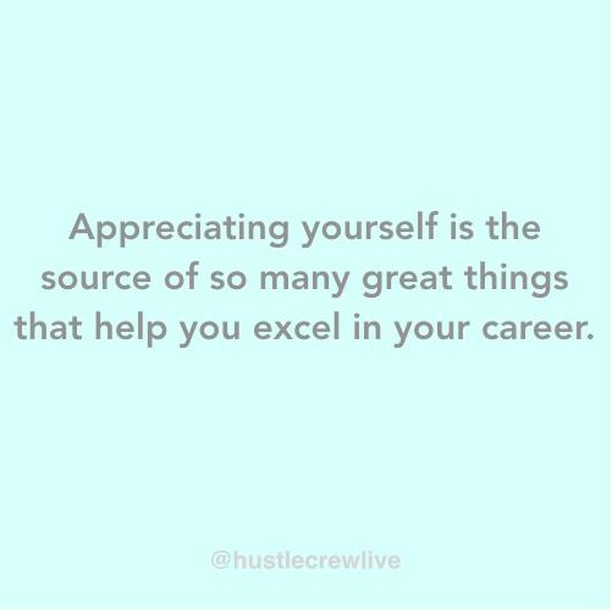 Appreciating yourself gives you confidence, meaning you can negotiate for what you're worth. Self love also helps you avoid toxic relationships and gives you clarity around your motivations and desires. It also makes you a pleasure to be around.⁣⠀ ⁣⠀ Positive people get more done than negative people. As a result truly ambitious people tend to be positive and are drawn to other positive ambitious people. Together they build great things — this could and should be you. ⁣⠀ ⁣⠀ If you find it difficult to grow your self esteem ensure you are actively taking steps to change that. One option is to join a community that allows you to be yourself. Hustle Crew mentors are available to help for free, come and join us!⁣⠀ ⁣⠀ #diversityintech #womenintech #empowerment #positivity #positivethinking #careers #hustlecrew #mondaymotivation #motivation #inspiration #hustletips #dreambighustlehard⁣