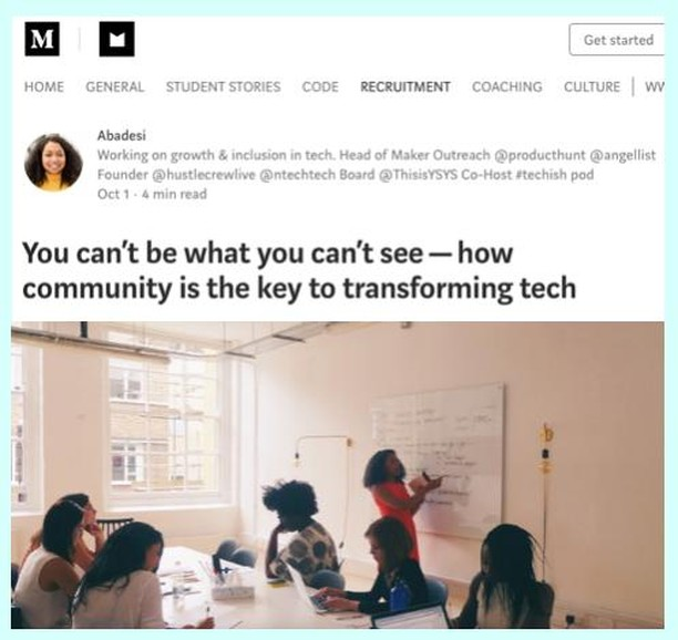 "Following yesterday's post, check out @abadesi's article on Makers Academy ""You can't be what you can't see - how community is the key to transforming tech"" where she shares her own experience of  realising  that she was being paid less than her male counterparts.⁣⠀ ⁣⠀ #womenintech #bosslady #empowerement #womenempowerement #empowerwomen #genderpaygap #moneytalk #timesuptech #askformore #negotiationtips #HustleTips #DreamBigHustleHard #Abadesi @makersacademy"