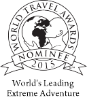 World Travel Award nominee for World's Leading Extreme Adventure 2012, 2013, 2014 & 2015