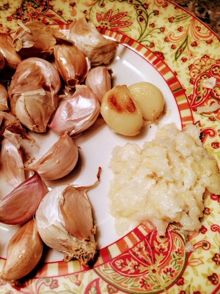 ROASTED GARLIC PASTE (Click  here  for recipe)