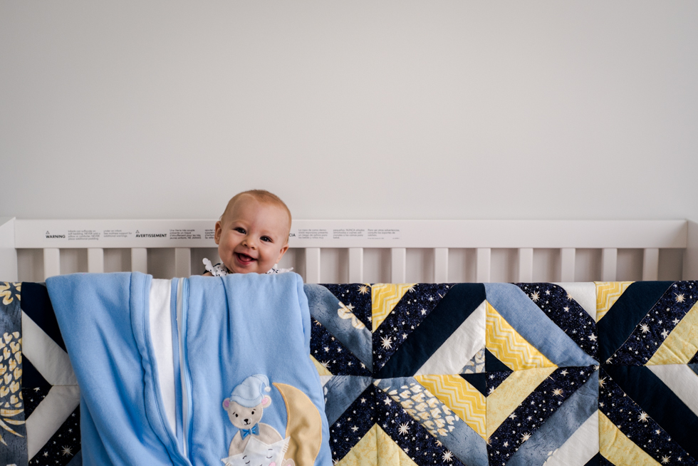 baby-in-ikea-crib-with-handmade-blanket-by-Jenny-Diaz-Toronto-Family-Photographer