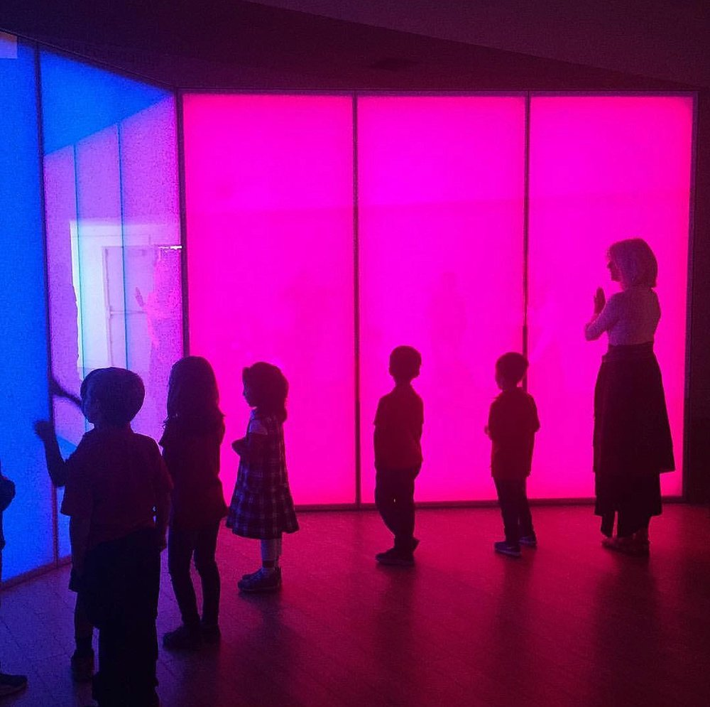 Enjoying a Philip K. installation at the Laguna Art Museum