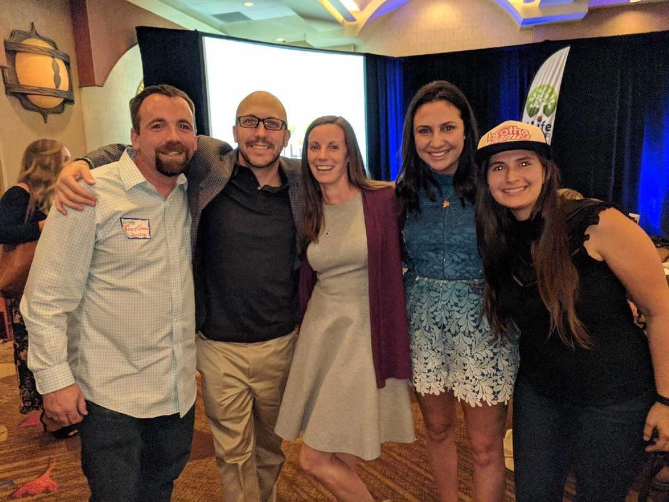 Hanging with other Miracle Morning co-authors (Ryan Snow, Mike McCarthy, myself, Natalie Janji and Brianna Greenspan) at the 1Life Fully Lived Conference.