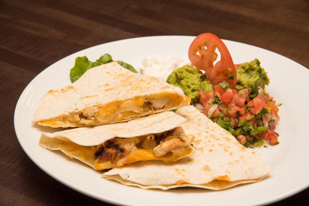 Fajita, Chicken, or Cheese Quesadillas