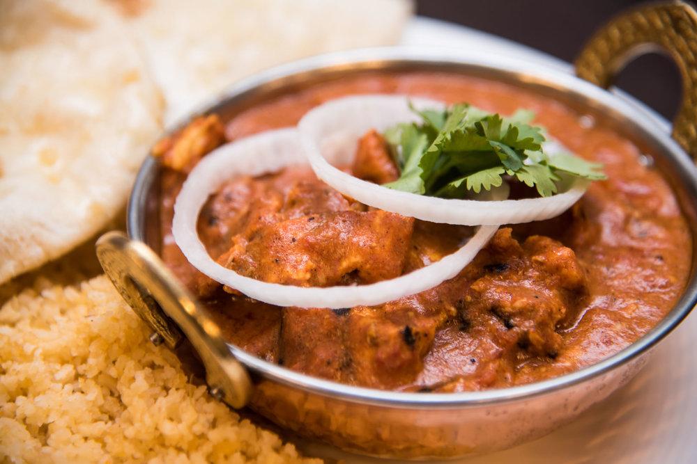 Chicken, Shrimp, or Vegetable Tikka Masala
