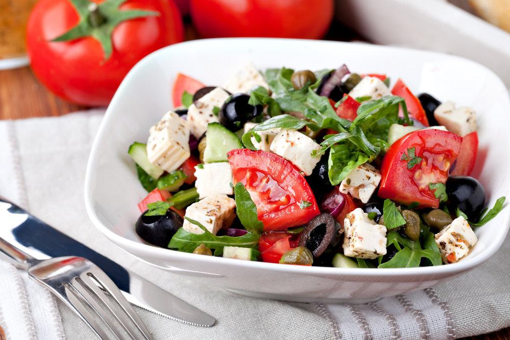 Roasted Tomato & Feta Salad