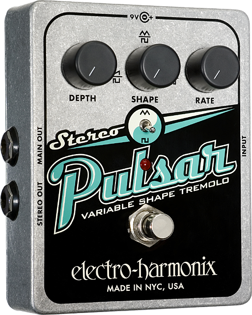 Stereo Pulsar Variable Shape Analog Tremolo