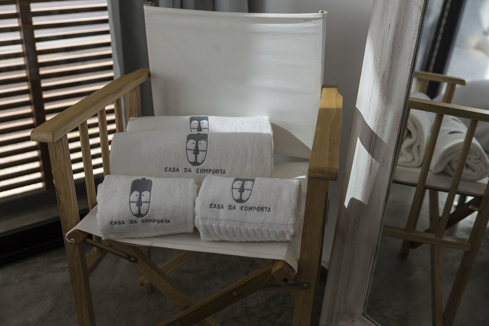 Logo applied on towels