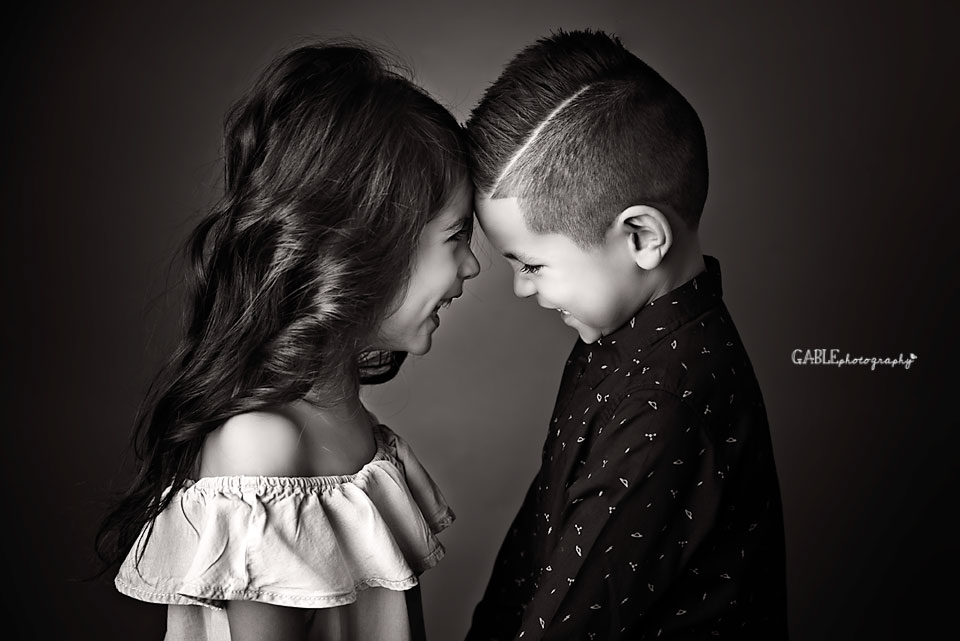 adorable brother and sister portrait