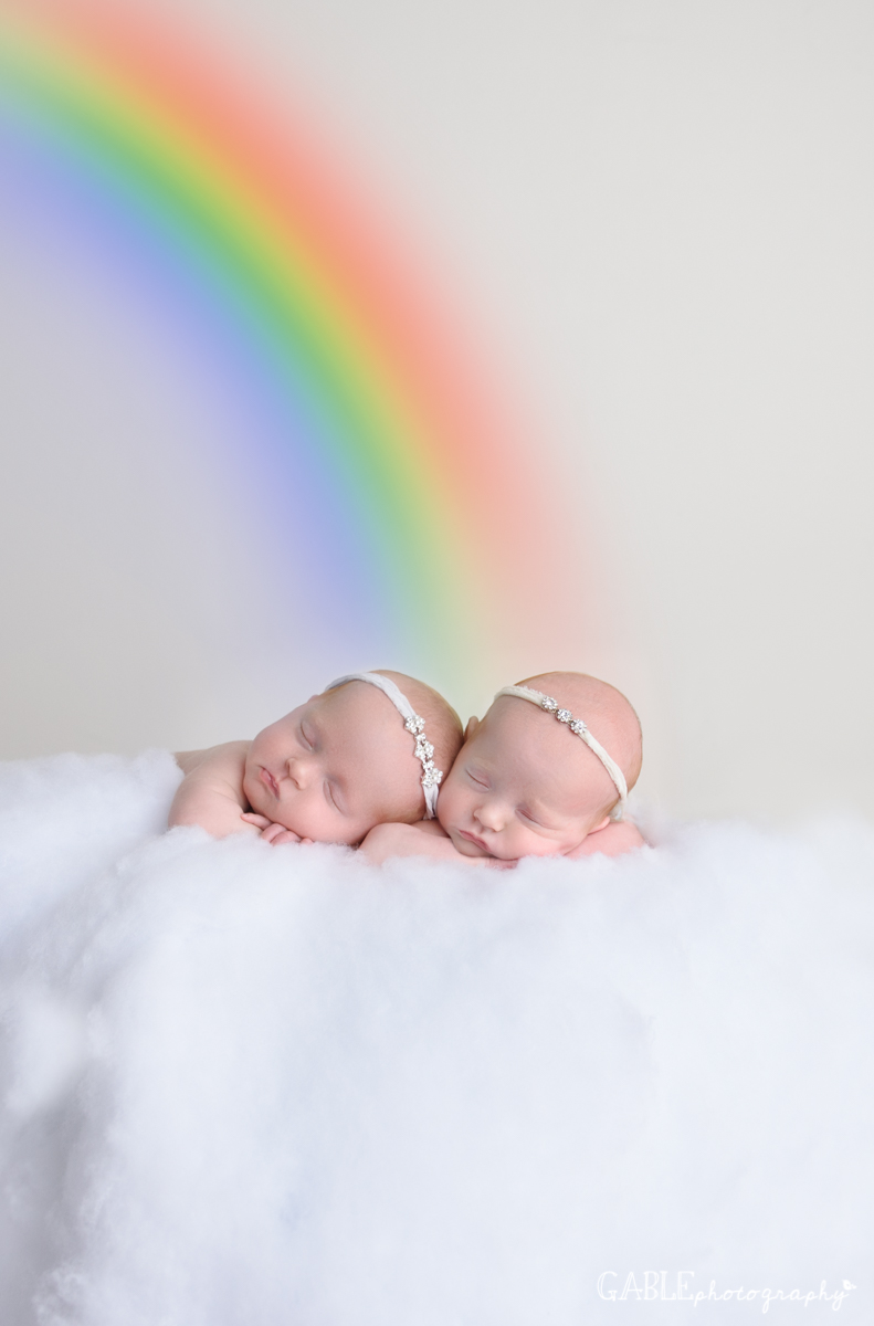 Rainbow babies newborn photography