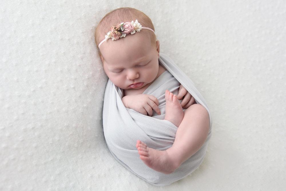 baby girl newborn photography columbus ohio