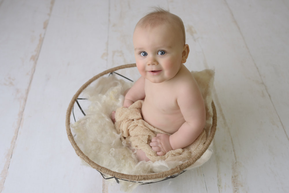 6 month baby photography session