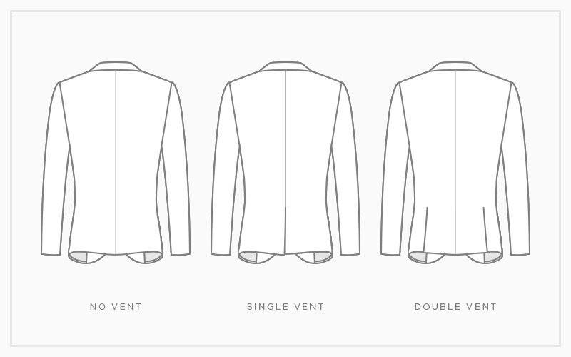 Vents allow for both a tailored fit and easy mobility. Double vents are traditional, whereas single vent is a bit more modern.    There you have it, our quick back-to-basics guide on the options available for our made-to-measure suits.