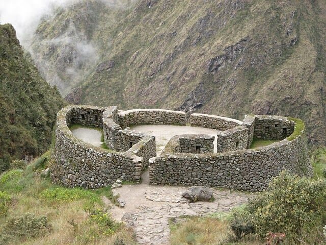 Stone structure in the Andes