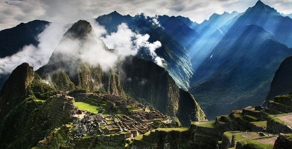 Machu Picchu and clouds