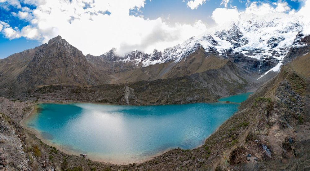 Beautiful lake in the Andes