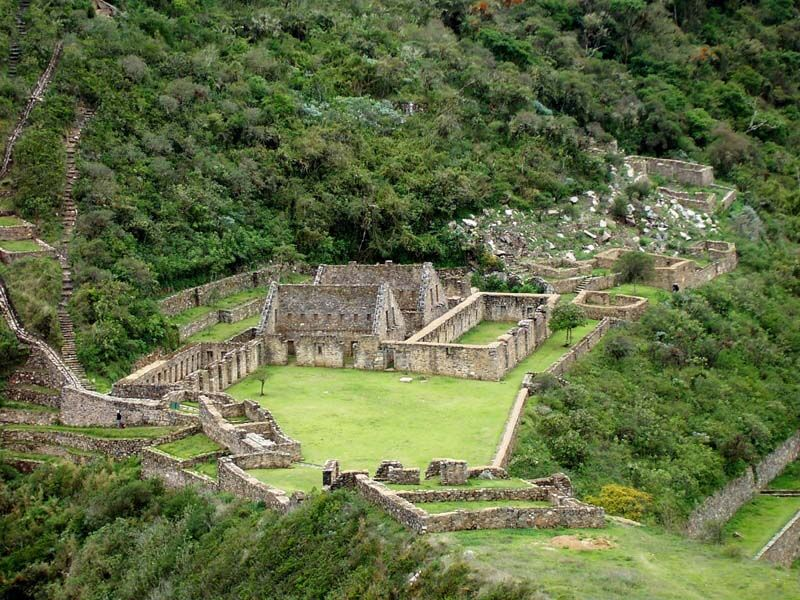 A portion of the Choquequirao ruins