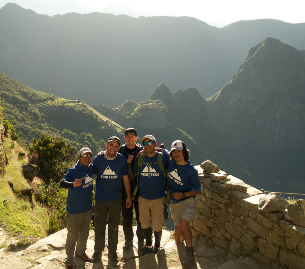 From left to right: Co-Founders, Erik, Michael & Preston with 2 Kusa Treks guides Lucho and Coco
