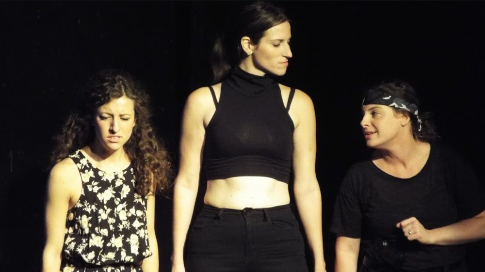 Amanda Dolan, Bethany Nicole Taylor, and Alyson Goodman in a new play by Liz Thaler and d  irected by Victoria Crutchfield in the cycle  Shotz, Marry, Kill