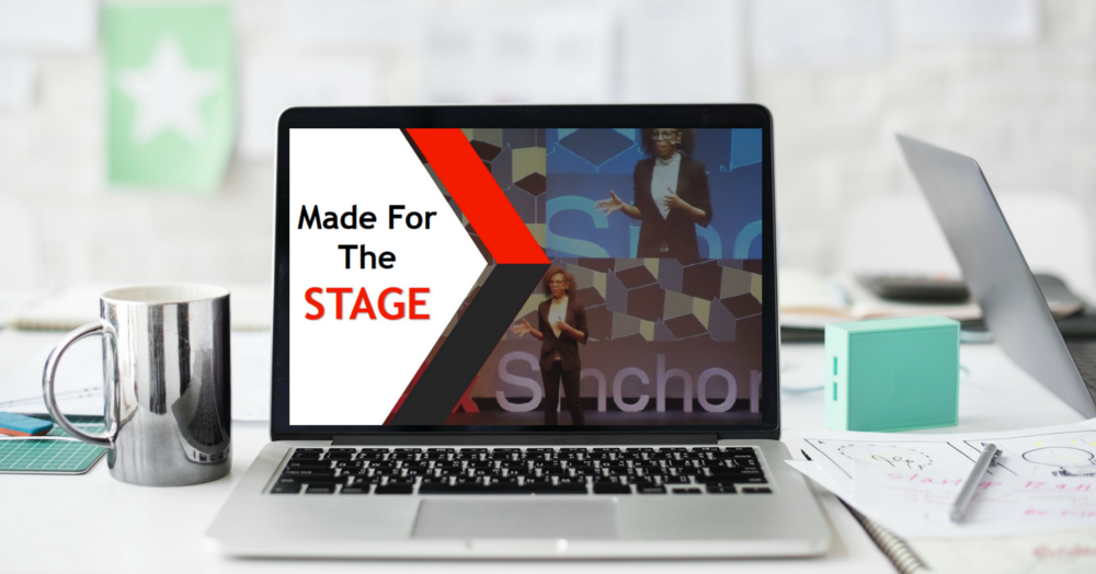 MADE for the STAGE  TEDx speaker training program  Worth $497