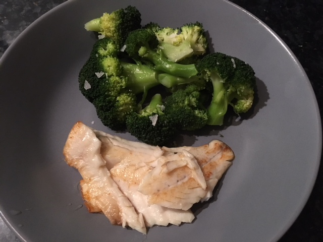 Bass with broccoli