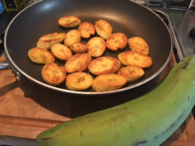 I found plantain at my local co-op.. it's fried in oil with a sprinkling of salt and tastes fantastic