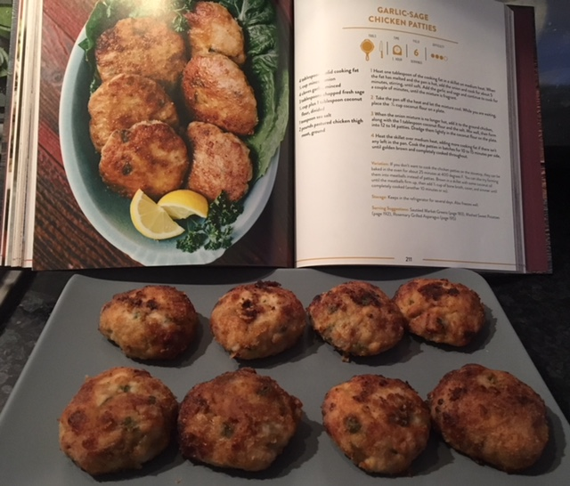 Very pleased with my garlic-sage chicken patties