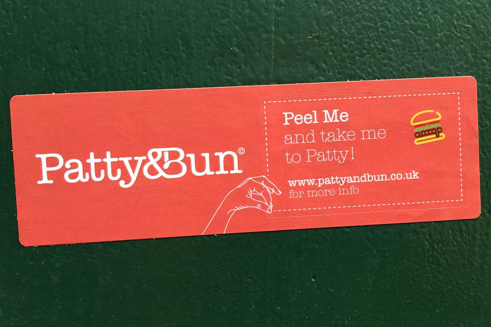 Patty and bun sticker hunt