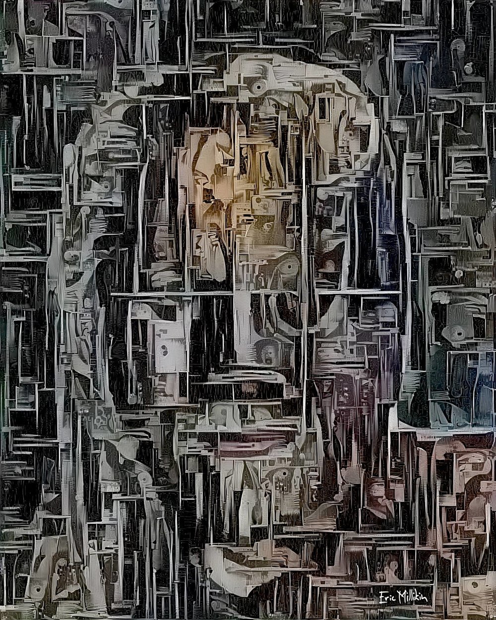 """Séance Affliction: Self-Portrait While Possessed by the Ghosts of El Santo and Louise Nevelson""  2017"