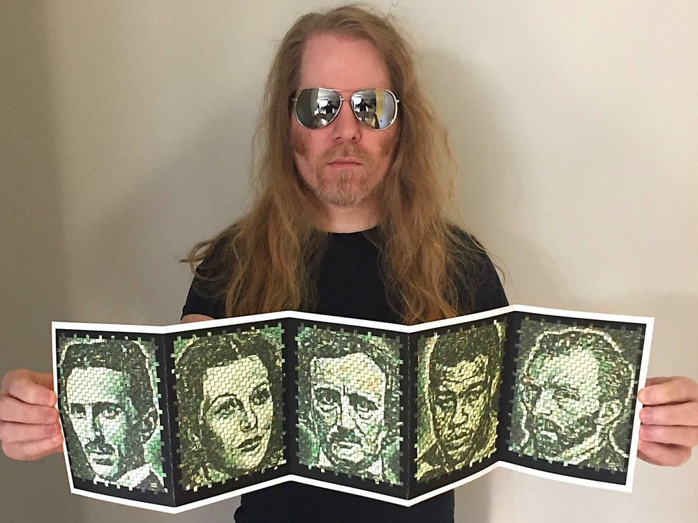 "My 2017 ArtPrize entry featuring five ""Made of Money"" portraits. ArtPrize is ""an open, independently organized international art competition which takes place for 19 days each fall in Grand Rapids, Michigan."" ArtPrize was created by billionaire Rick DeVos, who has contributed to many conservative political causes.   The New York Times covered my ""Made of Money"" artwork:  ""Any artwork put into ArtPrize is going to be about ArtPrize, the DeVoses and Trump,"" said Eric Millikin, an artist in Detroit whose entry, ""Made of Money,"" used a weave of actual dollar bills and digital manipulation to produce portraits of accomplished people who died poor. ""I've always been conflicted about participating because of the DeVoses, but this year with Betsy DeVos in the federal government, it was a conflict I had to address.""  Full article here: https://www.nytimes.com/2017/09/27/arts/design/artprize-michigan-betsy-devos-donald-trump.html"