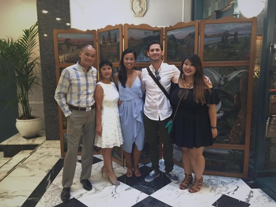 Left to Right: Dad, Mom, Julie (Bride), Alex (Groom), Me