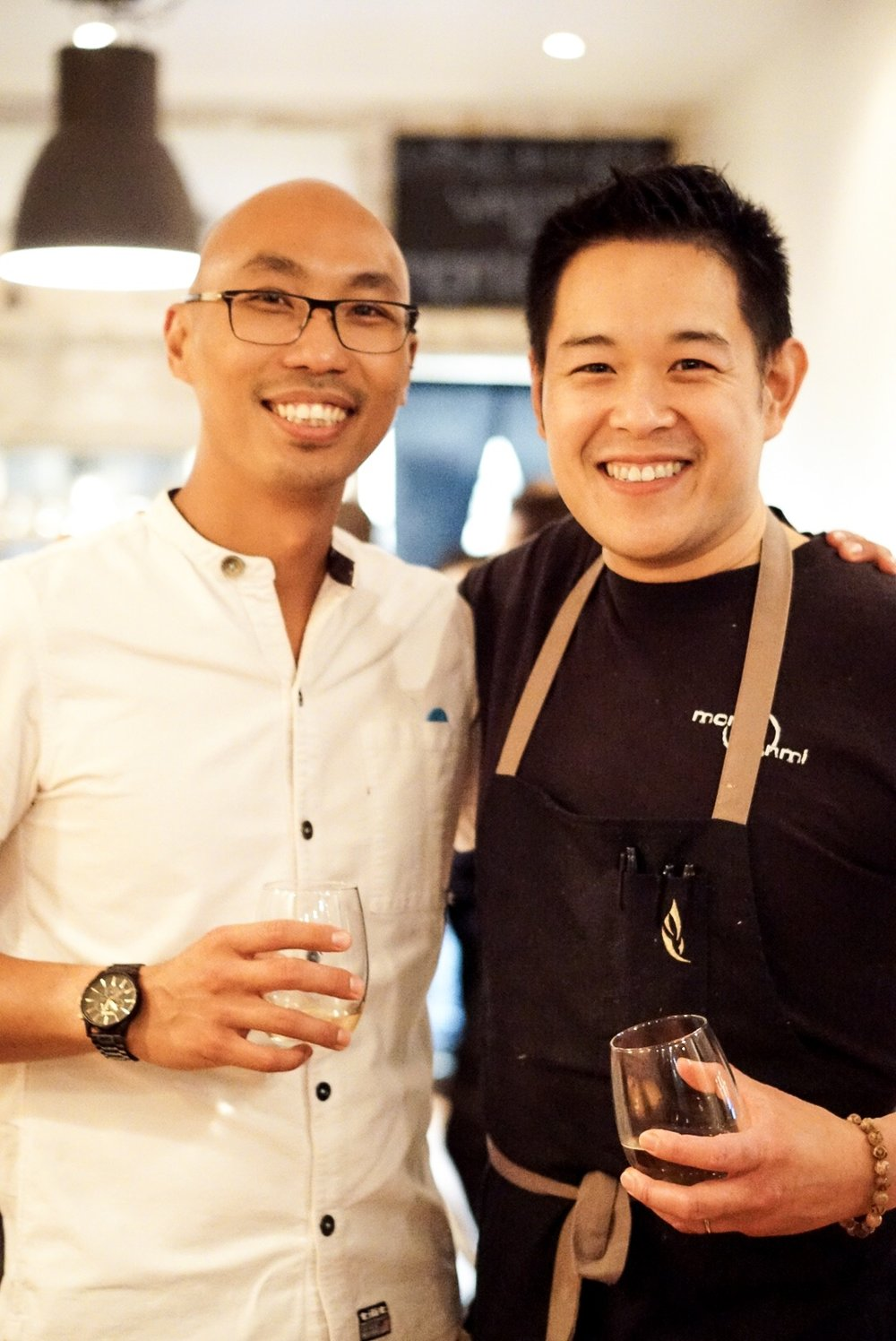 Chef Derrick Teh and Chef Chris Chung