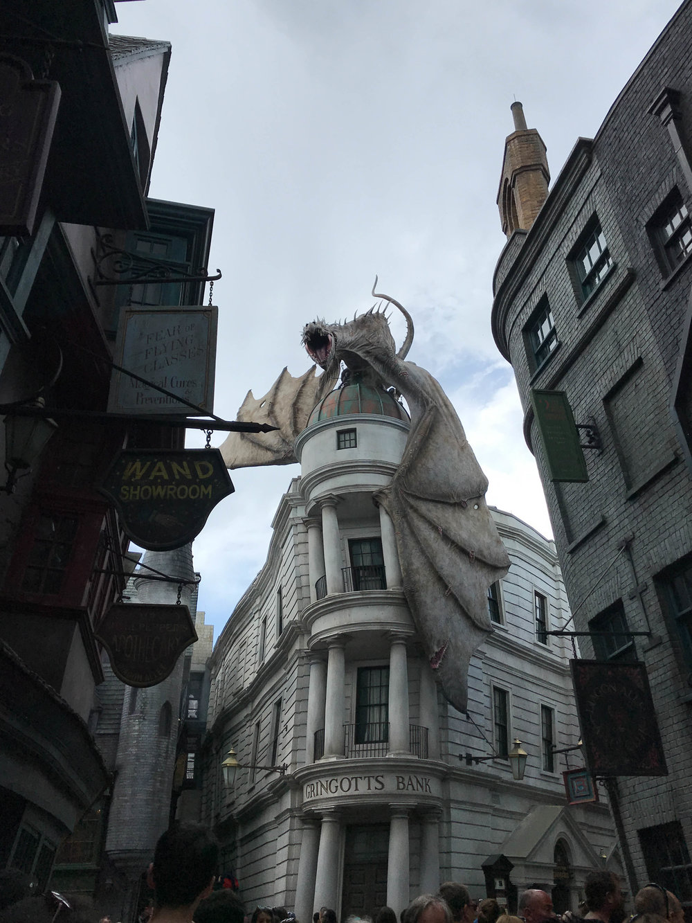 Escape from Gringotts at Diagon Alley