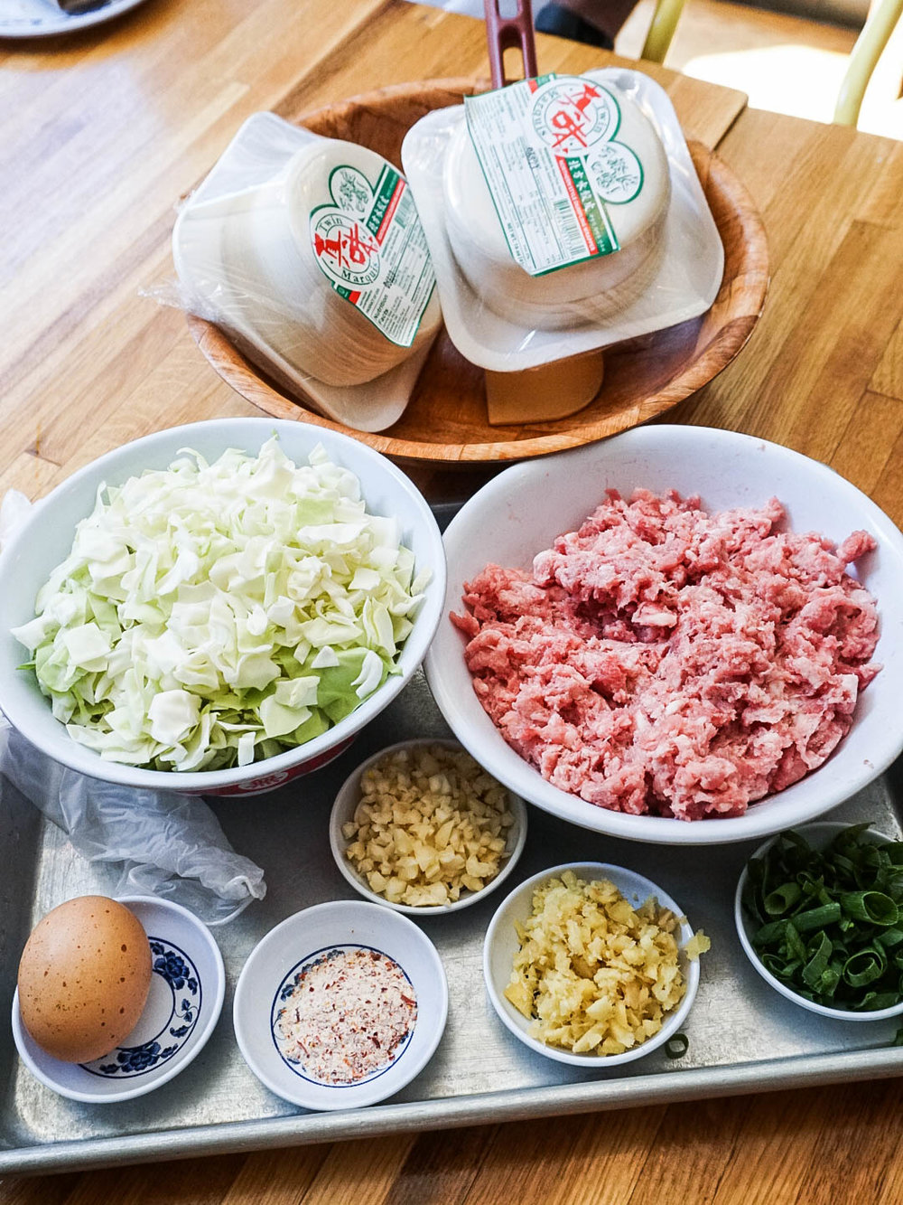 Dumpling Filling Ingredients & Wrapper