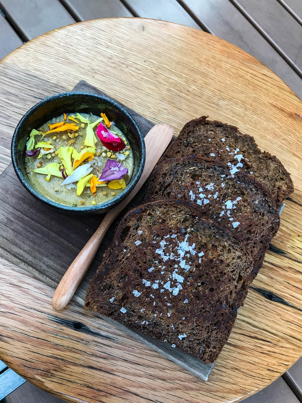 Zucchini Bread and Foie Gras at Hazel