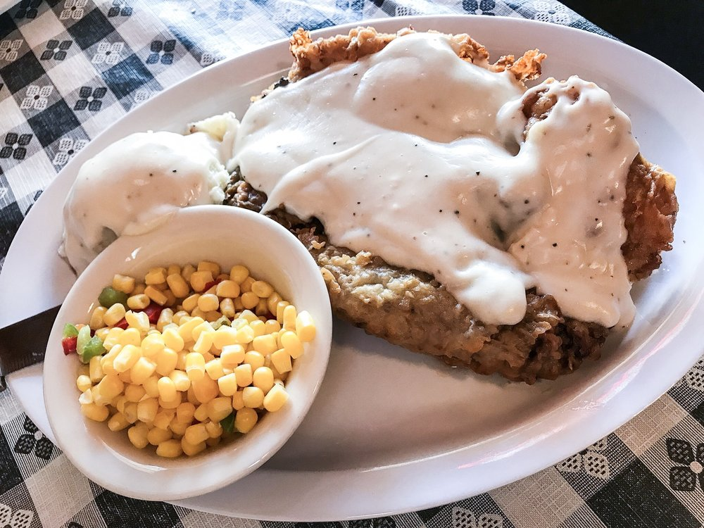 Chicken Steak and Gravy from Papa Bears Restaurant and Lounge