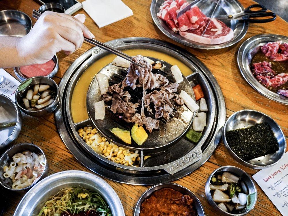 Korean BBQ at Kang Ho Dong Baekjong