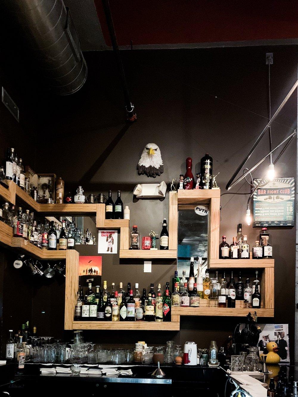 View from the bar at Backbar