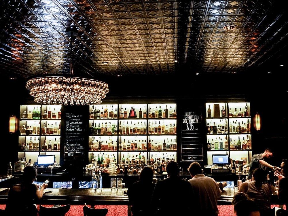 Views of the bar at Wink & Nod