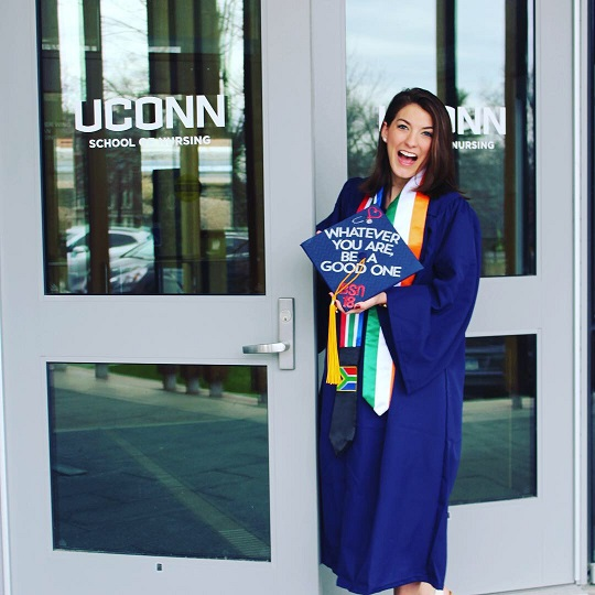Brittany on her graduation day, May 2018.