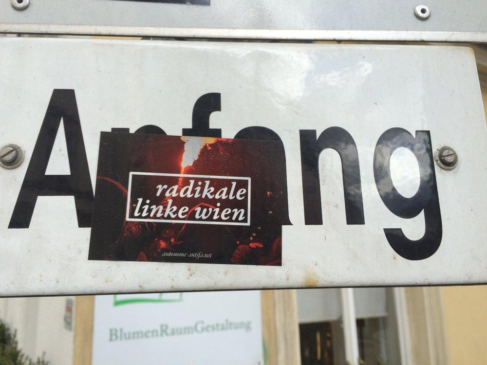 Radical Left Vienna sticker. (Wyatt Adams)