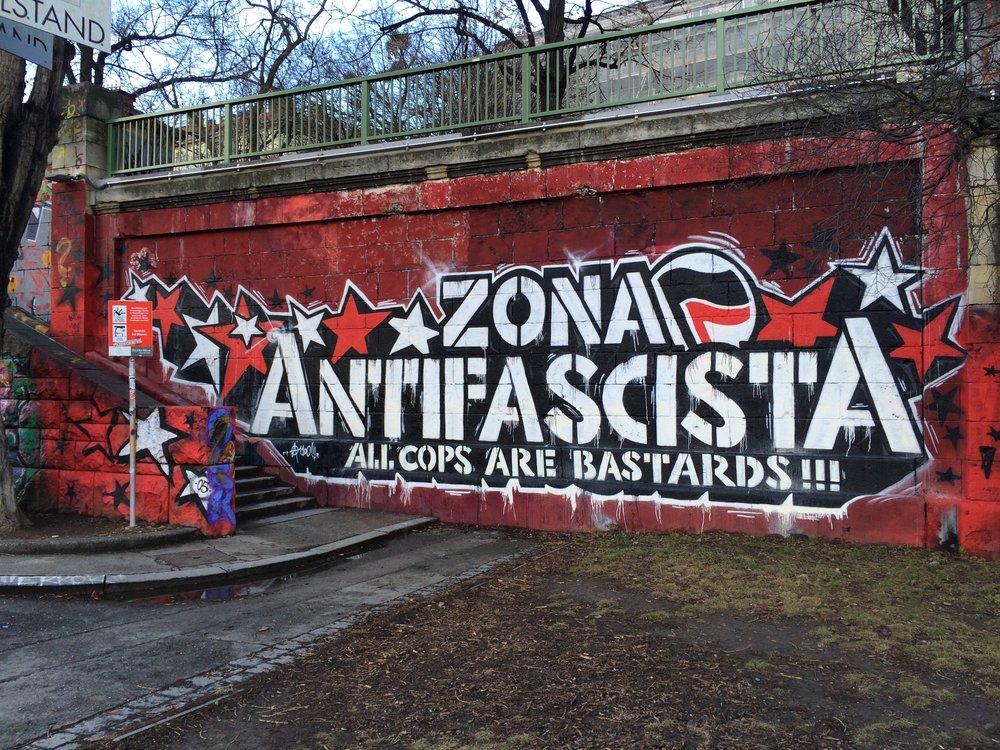 Antifascist Zone. (Wyatt Adams)