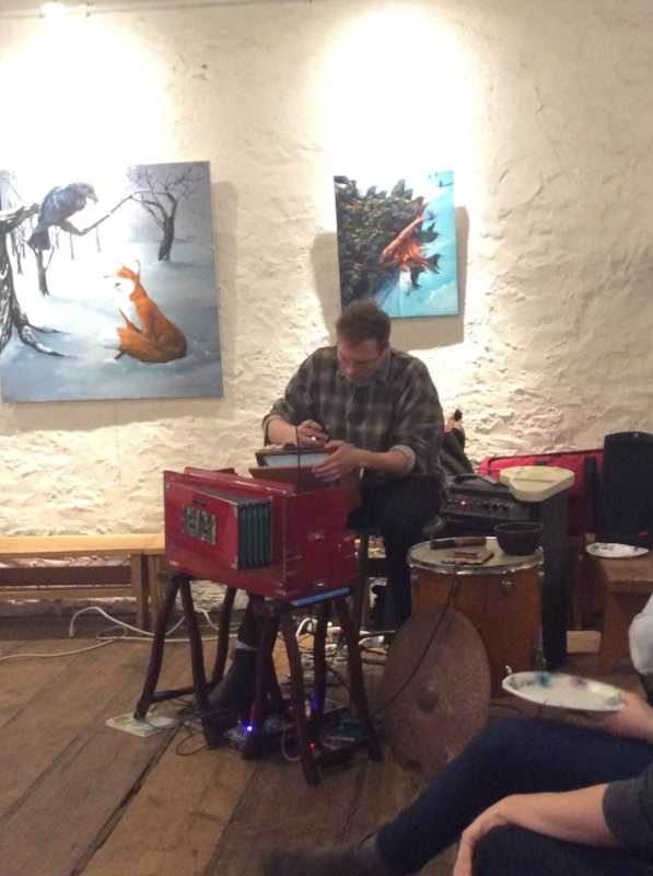 Musician Tristan Dahn performs