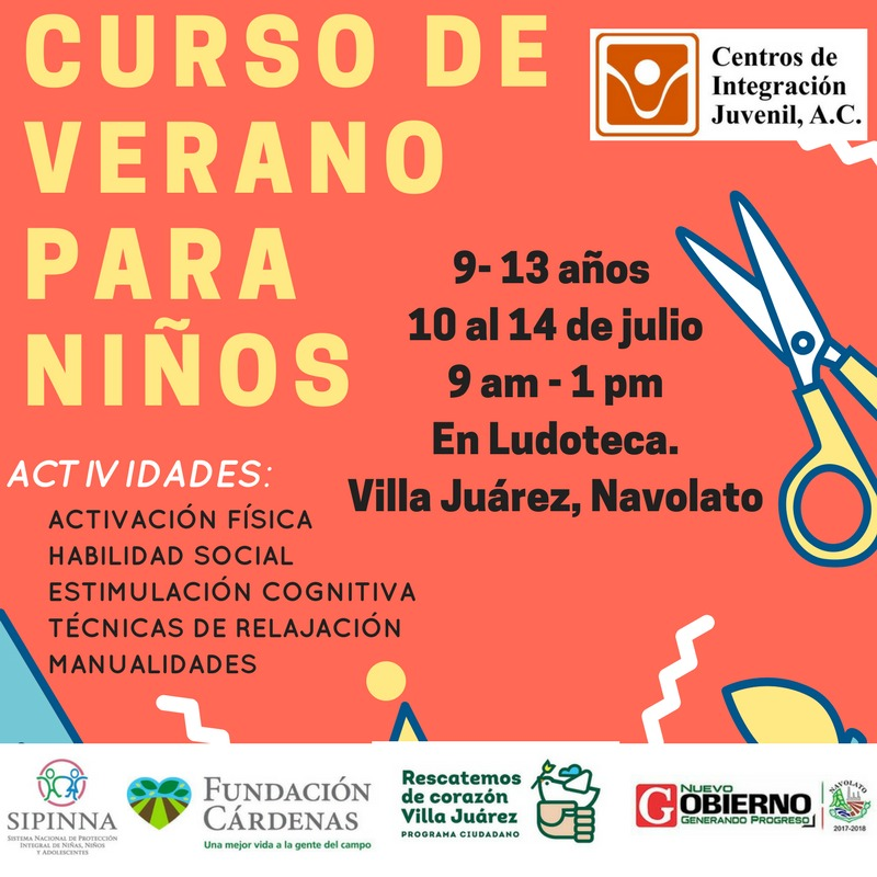 Flyer Advertising the summer program. (Photo: Rescatemos de Corazón Villa Juárez)