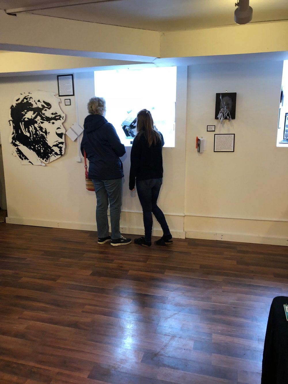 The exhibit gave parents of the student artists insight into what pressures the students were facing. (Photo: Jessica Sierk)